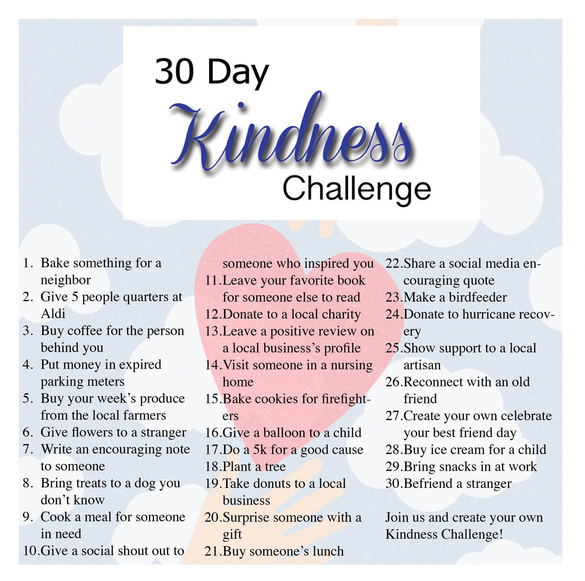 kindness heats up with a 30 day challenge david white services